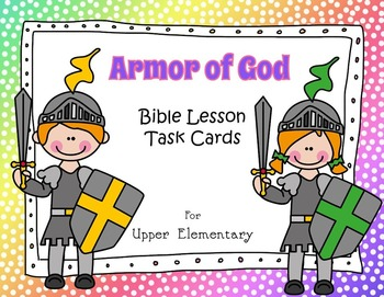 Armor of God - Bible Task Cards for Upper Elementary