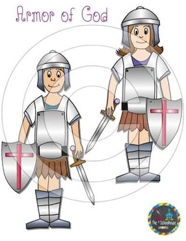 Armor of God Clipart in Color and Black & White