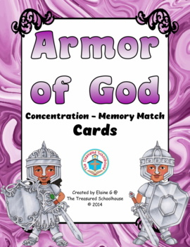 Armor of God Concentration Cards