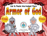 Armor of God Cut & Paste Worksheet {FREEbie}
