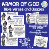 Armor of God Verse Posters Printables and Quizzes Ephesian