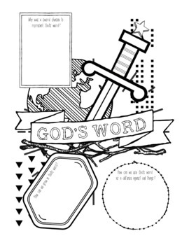Armor of God Coloring Pages   350x270