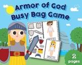 Armour of God Busy Bag, Preschool, Kindergarten, home scho