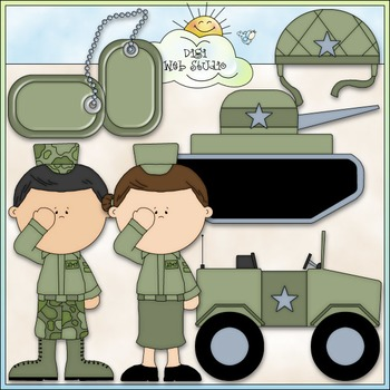 Army Clip Art - Military Clip Art - Armed Forces Clip Art - CU Clip Art & B&W