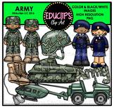 Army Clip Art Bundle {Educlips Clipart}
