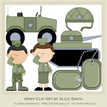Army Clip Art Graphics by Alice Smith