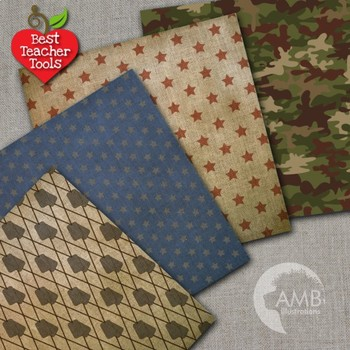Army Digital Papers, Veterans Day Theme Background {Best Teacher Tools} AMB-1879