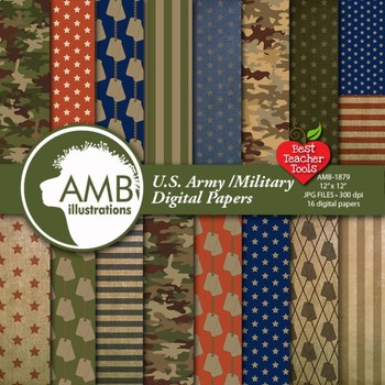 Army Digital Papers, Veterans Day Theme Background {Best T