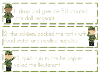 Army Editing Game Cards (STAAR Writer Strong!)