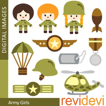 Army Girls Clip art (military, soldier)
