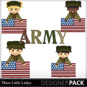 Army Girls with flags