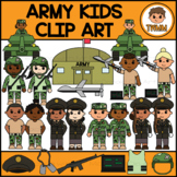 Army Kids l Armed Forces & Community Helpers Clipart l TWM