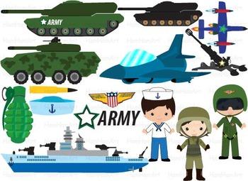 Army Navy Clip Art gun Aircraft american Military soldier