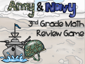 Army & Navy 3rd Grade Math Review Game