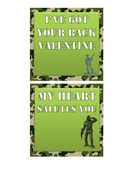 Army Themed Valentine's Day Cards