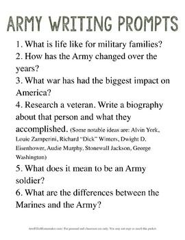 Army Unit Study (upper elem)