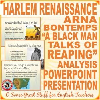 """Black History Arna Bontemps """"A Black Man Talks of Reaping"""" Harlem Renaissance"""