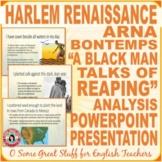 """Arna Bontemps """"A Black Man Talks of Reaping"""" Harlem Renaissance"""
