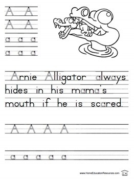 Arnie and Friends alphabet fun pages
