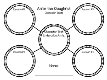 Arnie the Doughnut Character Traits Craftivity