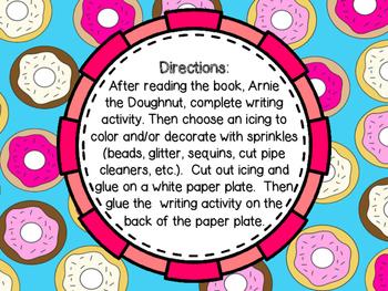 Arnie the Doughnut Character Traits Craftivity