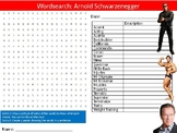 Arnold Schwarzenegger Wordsearch Sheet Starter Activity Keywords Actor Celebrity