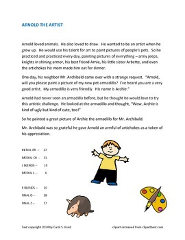 Arnold the Artist -- a story for articulation practice