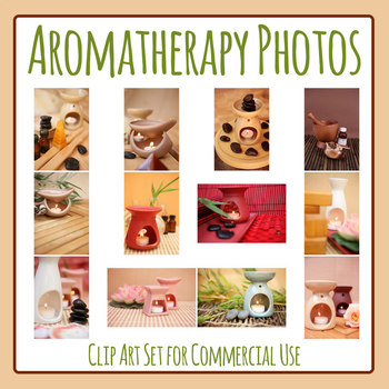 Aromatherapy / Scent / Smell Photos Clip Art Set for Commercial Use