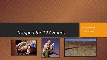 Aron Ralston Trapped/127 Hours Anticipation Activity