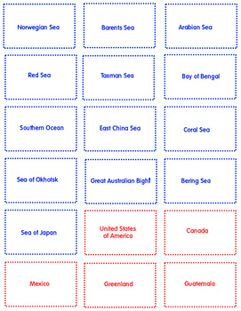 Around The World Geography Cards - Game or Practice - All Grades K-8