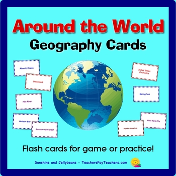 Around My World Geography Cards - Game or Practice - All G