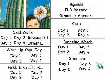 """Around One Cactus"" 3rd Grade Reading Street Unit Flipchart"