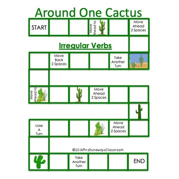 Around One Cactus: Irregular Verbs