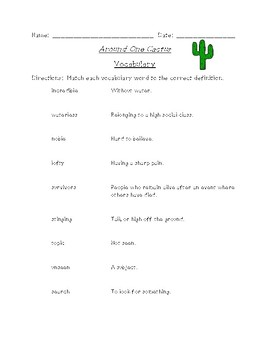 Around One Cactus Reading and Spelling Bundle (Scott Foresman Reading Street)