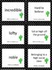Around One Cactus Vocab Cards