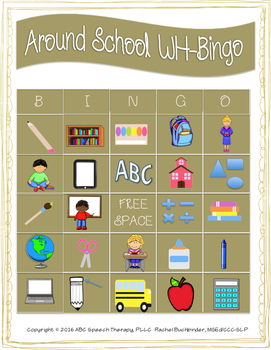 Around School WH-Bingo