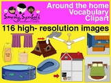 Around The Home Clipart Set: 116 PNG Images