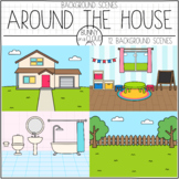 Around The House Background Scenes by Bunny On A Cloud