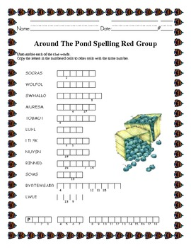 Around The Pond Spelling Word Work