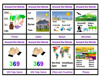 Around The Words Places: An Interactive Card Game
