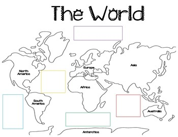 Around The World: Map Reading Skills