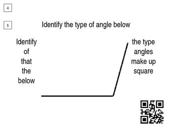 Around The World (QR Codes)- Identifying Angles