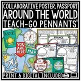 Around The World Research Project Templates 3rd Grade, 4th Grade, 5th Grade