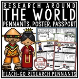 Around The World Research Project Templates 3rd Grade, 4th Grade, 5th Grade