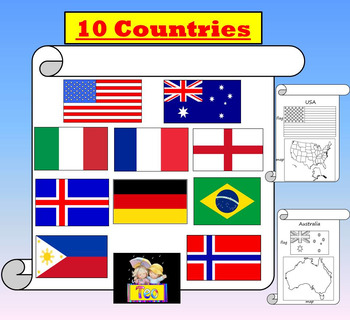 Country Studies 10 Countries - USA - Australia - Italy- Englan - France - Brazil