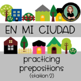 Spanish Prepositions / Giving Directions around town, en la ciudad