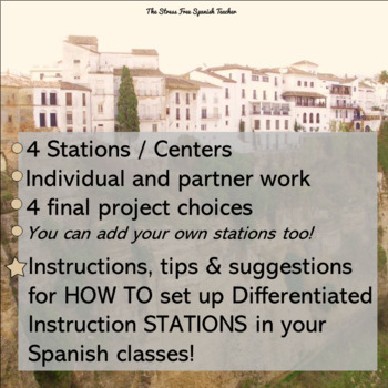 Spanish City Town Lessons Differentiated Instruction 50 Page Packet