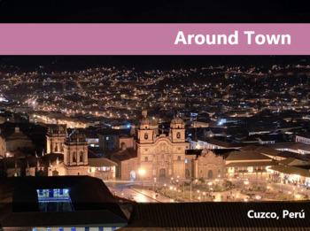 Around Town Spanish Vocabulary Presentation