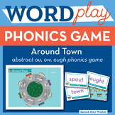 Around Town abstract ow, ou, ough Phonics Game - Words The