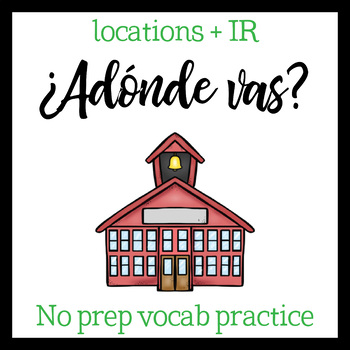 Around Town vocab and IR (Spanish)